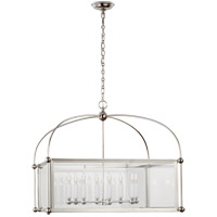 Visual Comfort CHC3453PN-CG E. F. Chapman Plantation 8 Light 29 inch Polished Nickel Lantern Pendant Ceiling Light, Wide Square