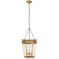 Visual Comfort CHC3568AB-CG E. F. Chapman Warwick 3 Light 14 inch Antique-Burnished Brass Foyer Lantern Ceiling Light in Antique Burnished Brass