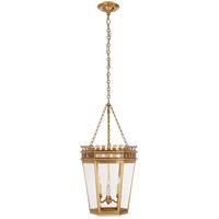 Visual Comfort CHC3568AB-CG E. F. Chapman Warwick 3 Light 14 inch Antique-Burnished Brass Foyer Lantern Ceiling Light