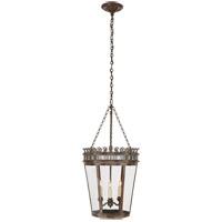 Visual Comfort CHC3568WVG-CG E. F. Chapman Warwick 3 Light 14 inch Weathered Verdigris Foyer Lantern Ceiling Light