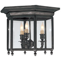 Visual Comfort E.F. Chapman English 3 Light Flush Mount in Bronze with Wax CHC4105BZ