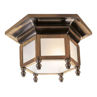 Visual Comfort E.F. Chapman English 1 Light Flush Mount in Antique-Burnished Brass CHC4107AB