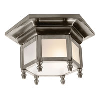 Visual Comfort E.F. Chapman English 1 Light Flush Mount in Antique Nickel CHC4107AN