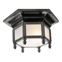 Visual Comfort E.F. Chapman English 1 Light Flush Mount in Bronze with Wax CHC4107BZ
