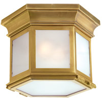 Visual Comfort CHC4125AB-FG E. F. Chapman Club 3 Light 12 inch Antique-Burnished Brass Flush Mount Ceiling Light in Antique Burnished Brass, Frosted Glass