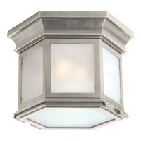 Visual Comfort E.F. Chapman Club 3 Light Flush Mount in Antique Nickel CHC4125AN-FG