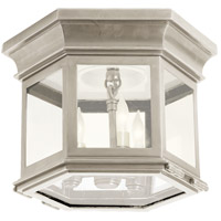 Visual Comfort CHC4125AN-CG E. F. Chapman Club 3 Light 12 inch Antique Nickel Flush Mount Ceiling Light in Clear Glass