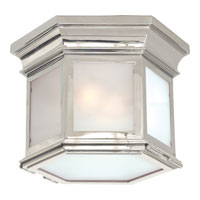 Visual Comfort E.F. Chapman Club 3 Light Flush Mount in Polished Nickel CHC4125PN-FG