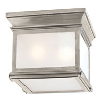 Visual Comfort E.F. Chapman Club 3 Light Flush Mount in Antique Nickel CHC4128AN-FG