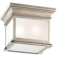Visual Comfort CHC4128AN-FG E. F. Chapman Club 3 Light 9 inch Antique Nickel Flush Mount Ceiling Light in Frosted Glass