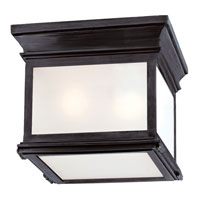 Visual Comfort E.F. Chapman Club 3 Light Flush Mount in Bronze with Wax CHC4128BZ-FG