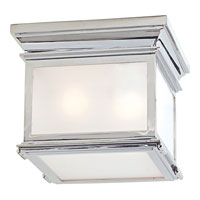 Visual Comfort E.F. Chapman Club 3 Light Flush Mount in Polished Nickel CHC4128PN-FG