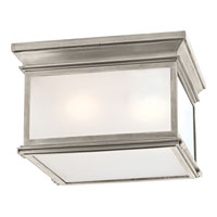 Visual Comfort E.F. Chapman Club 3 Light Flush Mount in Antique Nickel CHC4129AN-FG