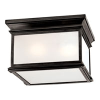 Visual Comfort E.F. Chapman Club 3 Light Flush Mount in Bronze with Wax CHC4129BZ-FG