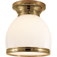 Visual Comfort E.F. Chapman Edwardian 1 Light Flush Mount in Antique-Burnished Brass CHC4132AB-WG