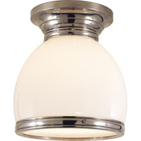 Visual Comfort E.F. Chapman Edwardian 1 Light Flush Mount in Antique Nickel CHC4132AN-WG
