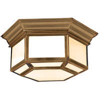 Visual Comfort CHC4140AB E. F. Chapman Cornice 2 Light 19 inch Antique-Burnished Brass Flush Mount Ceiling Light in Antique Burnished Brass