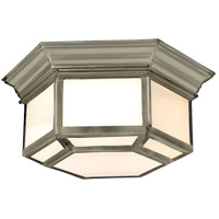 Visual Comfort E.F. Chapman Cornice 2 Light Flush Mount in Antique Nickel CHC4140AN