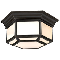 Visual Comfort E.F. Chapman Cornice 2 Light Flush Mount in Bronze with Wax CHC4140BZ