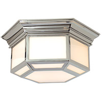 Visual Comfort E.F. Chapman Cornice 2 Light Flush Mount in Polished Nickel CHC4140PN