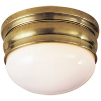Visual Comfort E.F. Chapman Crown 1 Light Flush Mount in Antique-Burnished Brass CHC4201AB