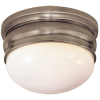 Visual Comfort E.F. Chapman Crown 1 Light Flush Mount in Antique Nickel CHC4201AN
