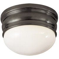 Visual Comfort E.F. Chapman Crown 1 Light Flush Mount in Bronze with Wax CHC4201BZ