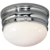 Visual Comfort E.F. Chapman Crown 1 Light Flush Mount in Polished Nickel CHC4201PN