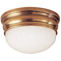 Visual Comfort E.F. Chapman Crown 2 Light Flush Mount in Antique-Burnished Brass CHC4202AB