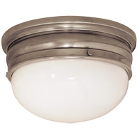 Visual Comfort E.F. Chapman Crown 2 Light Flush Mount in Antique Nickel CHC4202AN