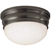 Visual Comfort E.F. Chapman Crown 2 Light Flush Mount in Bronze with Wax CHC4202BZ