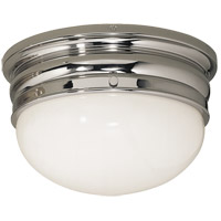 E. F. Chapman Crown 2 Light 12 inch Polished Nickel Flush Mount Ceiling Light