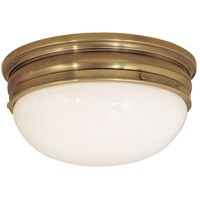 Visual Comfort E.F. Chapman Crown 2 Light Flush Mount in Antique-Burnished Brass CHC4203AB