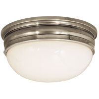 Visual Comfort E.F. Chapman Crown 2 Light Flush Mount in Antique Nickel CHC4203AN