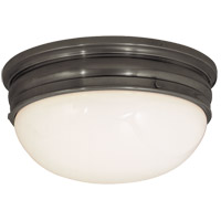 Visual Comfort E.F. Chapman Crown 2 Light Flush Mount in Bronze with Wax CHC4203BZ