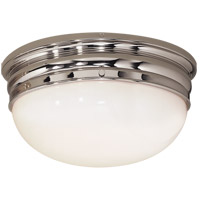 Visual Comfort E.F. Chapman Crown 2 Light Flush Mount in Polished Nickel CHC4203PN