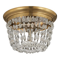 Visual Comfort E.F. Chapman Paris Flea Market 2 Light Flush Mount in Antique-Burnished Brass CHC4206AB-SG