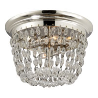 Visual Comfort E.F. Chapman Paris Flea Market 2 Light Flush Mount in Polished Silver CHC4206PS-SG