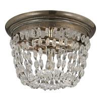 Visual Comfort E.F. Chapman Paris Flea Market 2 Light Flush Mount in Sheffield Silver CHC4206SHS-SG