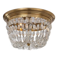Visual Comfort E.F. Chapman Paris Flea Market 2 Light Flush Mount in Antique-Burnished Brass CHC4207AB-SG
