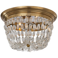 Visual Comfort CHC4207AB-SG E F Chapman Paris Flea Market 2 Light 13 inch Antique-Burnished Brass Flush Mount Ceiling Light