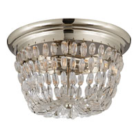 Visual Comfort E.F. Chapman Paris Flea Market 2 Light Flush Mount in Polished Silver CHC4207PS-SG