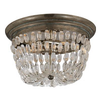 Visual Comfort E.F. Chapman Paris Flea Market 2 Light Flush Mount in Sheffield Silver CHC4207SHS-SG