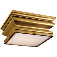 Visual Comfort E.F. Chapman Square 2 Light Flush Mount in Antique-Burnished Brass CHC4215AB