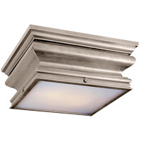 Visual Comfort E.F. Chapman Square 2 Light Flush Mount in Antique Nickel CHC4215AN
