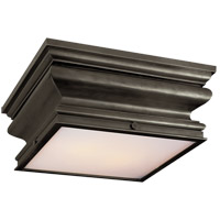 Visual Comfort E.F. Chapman Square 2 Light Flush Mount in Bronze with Wax CHC4215BZ
