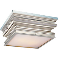 Visual Comfort E.F. Chapman Square 2 Light Flush Mount in Polished Nickel CHC4215PN