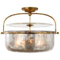 Visual Comfort CHC4270GI-MG E. F. Chapman Lorford 3 Light 20 inch Gilded Iron Semi-Flush Lantern Ceiling Light Medium