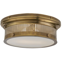 E. F. Chapman Alderly 2 Light 13 inch Antique Burnished Brass Flush Mount Ceiling Light in Antique-Burnished Brass