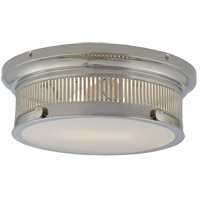 E. F. Chapman Alderly 2 Light 13 inch Polished Nickel Flush Mount Ceiling Light